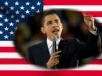 アメリカ国旗とオバマ