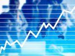 上がる 上昇 グラフ 株価 ビジネス チャート